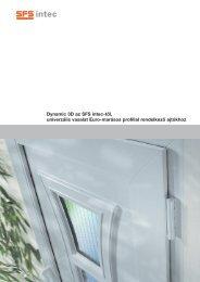 Dynamic 3D univerzális vasalat Euro- marásos profillal ... - SFS intec