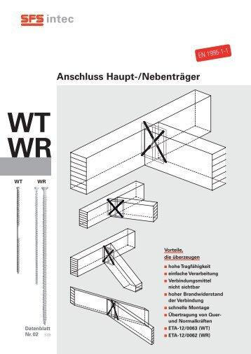 Anschluss Haupt-/Nebenträger WT WR - SFS intec