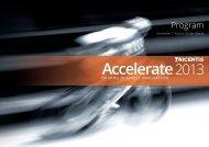 Accelerate 2013 - Tricentis