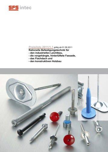 Preisliste 2011/1.1 - SFS intec