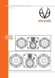 Eve Audio SC407 und SC408 Bedienungsanleitung