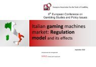 Italian gaming machines market - Regulation model and its effects
