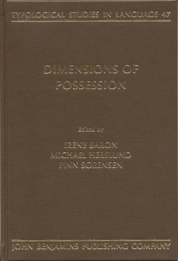 Dimensions of Possession - elchacocomoarealinguistica