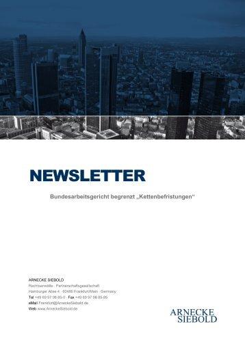 NEWSLETTER - Arnecke Siebold