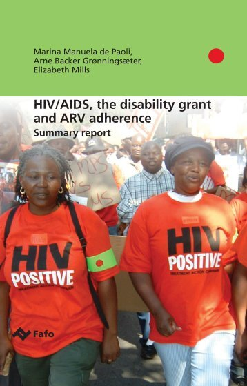 HIV/AIDS, the disability grant and ARV adherence - Fafo