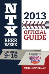 NTX BEER WEEK GUIDE - North Texas Beer Week