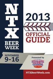 NTX BEER WEEK GUIDE - North Texas Beer Week