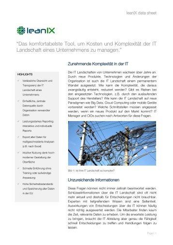 Datasheet (PDF) - leanIX