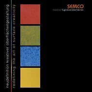 redefining the art of surface creativity neudefinition kreativer ... - semco
