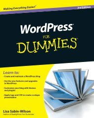 WordPress For Dummies, 3rd Edition - Index of