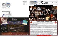 SCORE Newsletter December 2012 - Paducah Symphony Orchestra
