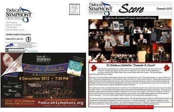 SCORE Newsletter December 2012 - Paducah Symphony Orchestra