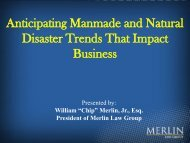 Anticipating Manmade and Natural Disaster Trends That Impact ...