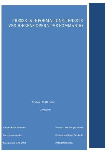 presse- & informationstjeneste ved hærens operative kommando