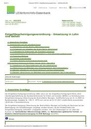 Umsetzung in Lohn und Gehalt der EBV