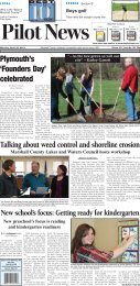 Talking about weed control and shoreline erosion - The Pilot News