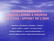 SPONDYLODISCITE BRUCELLIENNE A PROPOS DE 7 CAS ...