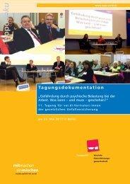Doku SV-Tagung 2013 - und Sozialpolitik - Ver.di
