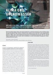KLIMA uND GruNDwASSEr - NFP 61