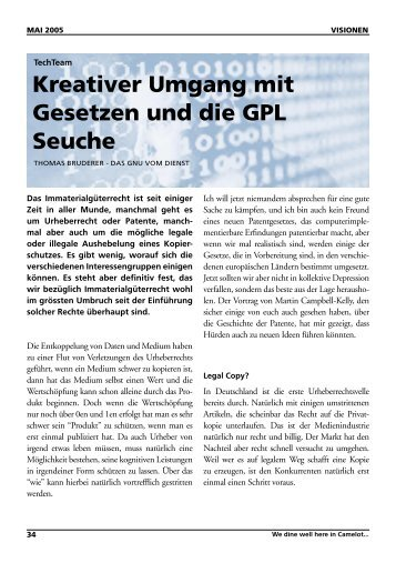 Kreativer Umgang mit Gesetzen und die GPL Seuche - Vis