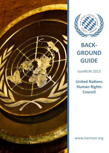 Background Guide - Isar Model United Nations 2013