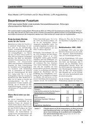 Dauerbrenner Fusarium - LTZ Augustenberg