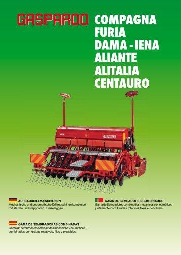 gama de semeadoras combinadas - Maschio Gaspardo