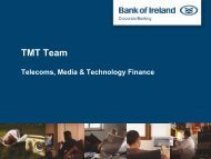TMT Team - Corporate Banking - Bank of Ireland