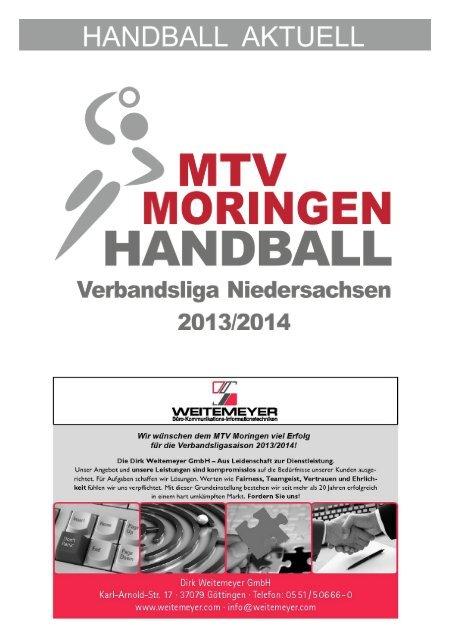 Hallenheft 28.09.13 (vs. Bergen) MTV Moringen
