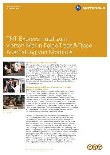 TNT Express nutzt zum vierten Mal in Folge Track & Trace - Motorola ...