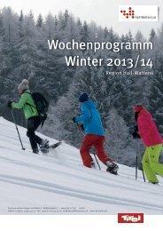 Wochenprogramm Winter 2013/14