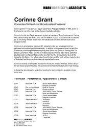 GRANT CORINNE - Mark Morrissey & Associates
