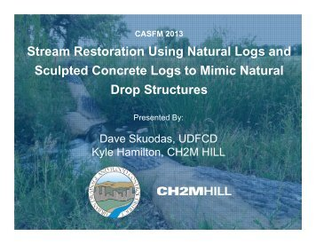 Stream Restoration Using Natural Logs and Sculpted Concrete Logs ...