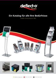 Ein Katalog für alle Ihre Bedürfnisse - Deflecto Europe