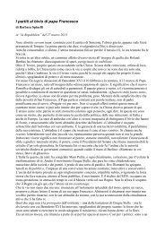 I partiti al bivio di papa Francesco - Incontri di