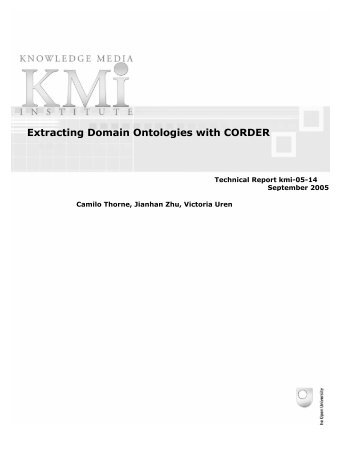 Extracting Domain Ontologies with CORDER - Knowledge Media ...