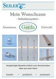 KatalogSelbstbauzäune als PDF Herunterladen - Seiler GmbH