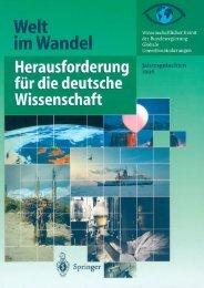 Welt im Wandel: Herausforderung für die deutsche Wissenschaft ...