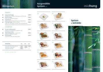 Speisekarte herunterladen - Asiahung