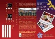 Flyer Weihnachtsaktion 2013 - Vergiss-Mein-Nicht eV