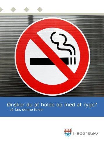 Ønsker du at holde op med at ryge? (Haderslev Kommune)