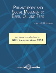 PHILANTHRoPy AND SoCIAL MoVEMENTS: BEER, oIL AND FEAR