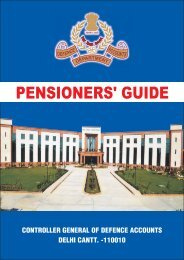 Pensioner's Guide - CGDA-Controller General of Defence Accounts