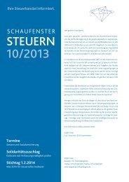 STEUERN 10/2013 - Steuerberater Jürgen Lang