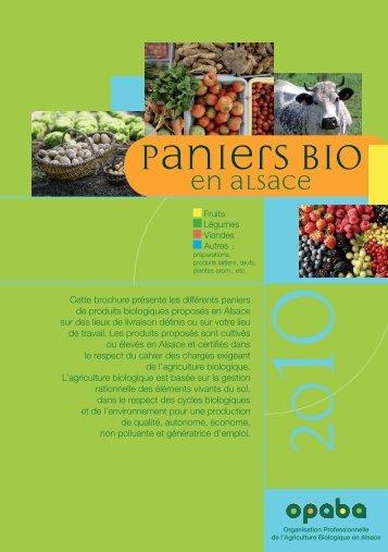 Paniers Bio en Alsace - Opaba