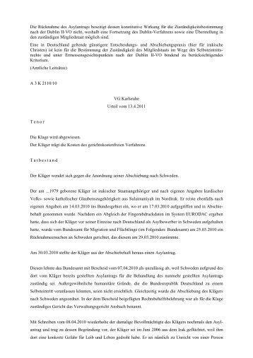 die rcknahme des asylantrags beseitigt dessen konstitutive - Asylantrag Muster