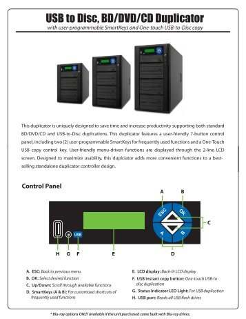 USB to Disc, BD/DVD/CD Duplicator - EZ Dupe