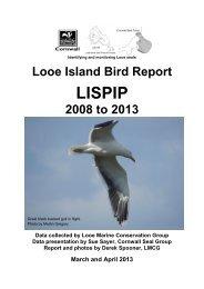 Looe Island Bird Report March-April 2013 - Cornwall Wildlife Trust