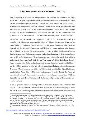 Zur Tübinger Germanistik nach dem 2 - Universität Tübingen
