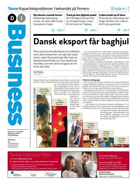 Dansk eksport får baghjul - DI